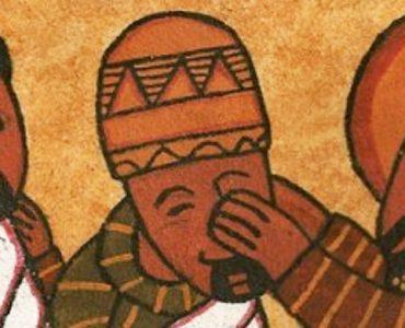 Ethiopoan icon - Jesus heals the blind man