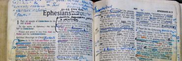 Bible full of notes